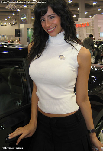 Busty brunette Model and Honda