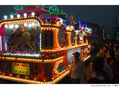 decorated electric light vehicle,  (*dans) Tags: people festival taiwan parade vehicle matsu rite mazu    electriclightvehicle decoratedelectriclightvehicle