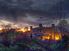 Sunset at the Castle San Miguel [HDR] (earthsound) Tags: light sunset sky castle topv111 fairytale night clouds 1025fav wow easter wonder al topv555 topv333 glow 500v20f cloudy topv1111 topv999 alabama surreal 2006 100v10f fantasy april topv777 sanmiguel vigil surrealistic hdr highdynamicrange hdri ourladyoftheangels monestary eastervigil saintmichael photomatix hanceville shrineofthemostblessedsacrament cullmancounty tonemapped interestingness341 i500 hdrsunset holysaturday april152006 highdynamicrangeimaging theshrineofthemostblessedsacrament hancevilleal castlesanmiguel ourladyoftheangelsmonestary