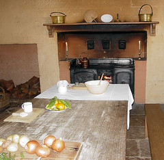 Kitchen from years gone by (yewenyi) Tags: wood food house history kitchen bench table geotagged fan lemon fireplace interior australia bowl lemons onions pot kettle pots tiles stove nsw histoire newsouthwales onion slate aus syd historia woodstove preparation bungalow rosehill woodpile geschichte oceania sydeny parramatta storia pc2142  1793 auspctagged  geo:lat=338213  pctagged  greatersydney 70alicestreet  geo:lon=151017836 elizabethfarm auspctaggedmsydney