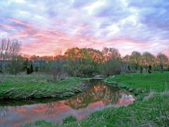 Sunrise over the Etobicoke Creek (Jeannot7) Tags: sky sun water creek sunrise bravo quality etobicoke specland specnature
