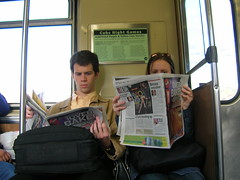 The RedEye is boring. (TheeErin) Tags: people chicago sports girl buildings subway tits cta butt parks el transit l shows bling museums cocksucker humans brownline zoos alankeyes    myassisonfire