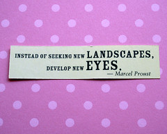 Thought for the day.... (cattycamehome) Tags: new pink tag3 taggedout landscapes eyes bravo tag2 all tag1 quote  spots spotty rights reserved proust develop catherineingram cattycamehome allrightsreserved