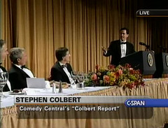 """""""Reality has a well-known liberal bias"""" (robbroccoli) Tags: bush satire iraq fotolog 2006 stephen dubya colbert owns pwns truthiness"""