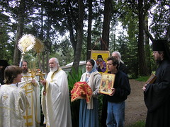 Procesing with the Artos on Bright Saturday (Olympiada) Tags: hieromonk monasteryofsaintjohnofshanghaiandsanfrancisco brightsaturday