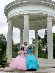 belles 4 (Dystopos) Tags: pink blue girls white colors girl festival hoop temple debs birmingham dress pastel south alabama grace southern dresses sybil bhamref dogwood antebellum dixie hospitality skirts gracious anachronism teenage belles genteel dogwoodfestival vestavia vestaviahills hoopskirts debutants shadesmountain vestaviabelles sybilline
