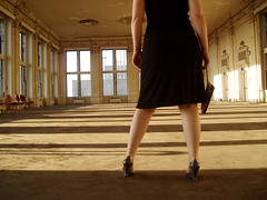 She realized she had arrived to the ball a little too late... (Steph Cloutier) Tags: selfportrait abandoned me fashion alone urbandecay dressedup ballroom fancy steffiejupe svc picturethecure2006 jamesbondish ptcpromo06