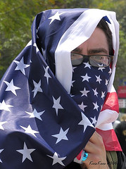 american burka (Kris Kros) Tags: california ca usa public face cali america freedom la us losangeles cool nikon pix day mask flag labor alien protest belief americanflag 2006 right demonstration socal believe illegal kris immigration jjj struggle laborday equality righteousness kkg equal righteous nikoncoolpix may1 humanright illegalalien kros kriskros nonhdr flagface kk2k kkgallery