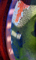 color wheel (dbthayer) Tags: ohio abstract color colors wheel wow cool rust e500  ferropool