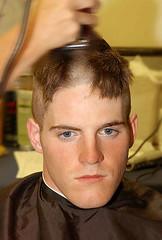6 (haircutsz) Tags: boy haircut man buzz cut guard crew shave clipper butch induction nape