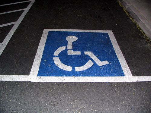 Armless Handicapped Parking Spot 01