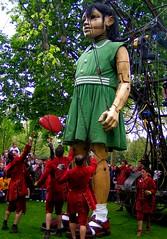 The Little Girl (judepics) Tags: uk littlegirl streettheatre loondon royaldeluxe thesultanselephant thechallengefactory