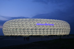 Allianz Arena (winklerw) Tags: light club night munich evening football stadium fifa allianzarena frttmaning fcbayernmnchen iluminated fifa2006 fc1860mnchen