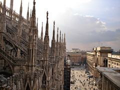 View from Milan's Duomo (AnnuskA  - AnnA Theodora) Tags: italy milan church topf25 topf50 marble duomo milo mrmore 3000v120f 500yearstobefiinished