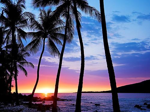 青空と調和するサンセットビーチ