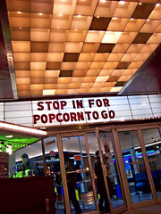 Entryway to Riverview Theater (Max Sparber) Tags: cinema minnesota sign movie theater neon minneapolis bijou popcorn movies twincities riverview