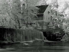 Waterfall at Lassiter Mill (airnos) Tags: waterfall northcarolina raleigh infrared lassitermill