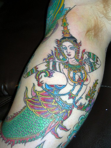 Thai Mermaid Tattoo by Jimmy Wong -- One of my Favorite Tattoos by Papa