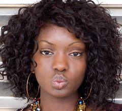 Teiko (Urban Disturbance) Tags: portrait black london model d70 bodylanguage 123 canarywharf theface teiko 50mmf18af spselection