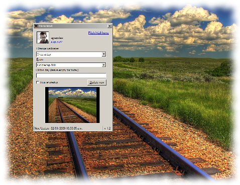 FlickrWall 1.2: A desktop wallpaper changer