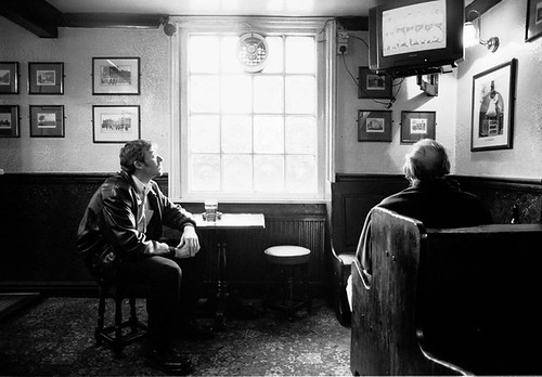Watching The Game - London Pub