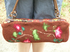 Felted floral bag (stupid clever) Tags: felted knit kniting fairisle feltedbag nickyepstein feltedfloralbag