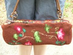 Felted floral bag (stupid clever) Tags: felted knit kniting fairisle feltedbag nickyepstein feltedfloralbag