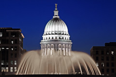 Good Evening From Wisconsin! (WisDoc) Tags: fountain wisconsin night canon bravo searchthebest quality capitol madison oneyear mononaterrace wisdoc selectedasthebest gtaggroup goddaym1