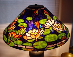 18in waterlilly (Doug Goodenough) Tags: stainedglass stained glass art lamp color antique base tiffany stainedglasslamp tiffanylamp leadedlamp glasslamp artlamp antiquelamp douggoodenough drg531stainedglass drg531