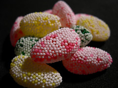 Dots (jillmotts) Tags: pink food green yellow easter jellies candy egg sugar jelly dots eats edible nonpareil jillmotts