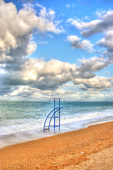 clouds and beach (otrocalpe) Tags: sky beach clouds italia nuvole cloudy spiaggia hdr otrocalpe