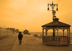 January in Coney Island (sgrazied) Tags: ocean nyc sky orange ny beach brooklyn quiet longisland silence coney tone 4550 lanouvellerévolutionsurrealiste interphoto