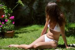 Assise au jardin (koalie) Tags: swimsuit koalie byguillaumelaurent byglaurent