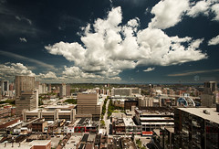 toronto eastern sky (wvs) Tags: city wallpaper sky toronto clouds cityscape wvs ddoi