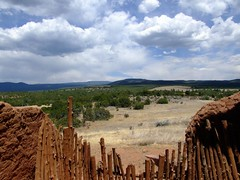 Church Overlook (taylorkoa22) Tags: blue sky white newmexico church nature clouds fence mud religion adobe marc nm overlook pecos mothernature marcgutierrez