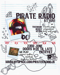 pirate radio poster (hool a hoop) Tags: illustration radio design graphic box pirate headphones doodles juke