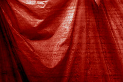 Impediment 44 (Pulpolux !!!) Tags: red invisible secret surface plastic hidden cover keep sheet material masked undercover unseen cloaked unveil