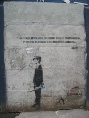 Stencil with Arletty quote (anarchitect) Tags: chile santiago streetart stencil arletty limaille