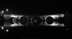 2000 Years Reflectin' (sgrazied) Tags: bridge bw reflections river italia noiretblanc 5 rimini ponte hits borgo romans simmetry tiberio italybw interphoto dp1008