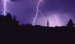 temporale/ thunderstorm (Seba.it) Tags: italy night italia hometown campanile thunderstorm italie veneto mottinellonuovo