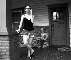 Miranda (tangent) Tags: portraits grayscale miranda downtownorlando