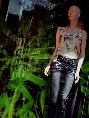 Rue du Sentier Paris 2004 (raphael_preston) Tags: reflection mannequin window fashion fetish bodylanguage panes totem coolest thecollective rollei35s raphaelpreston rpwindowpanes rpfashion themomentofknowing