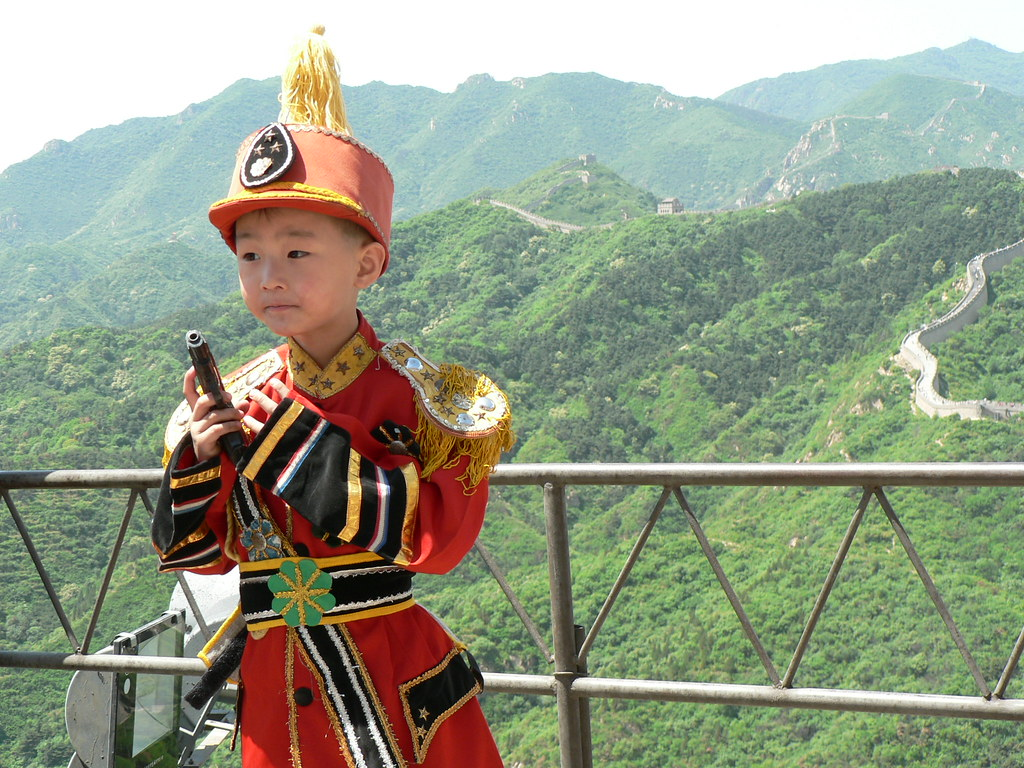 A little Communist I met at the Great Wall.