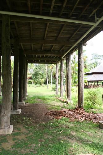 In a Melanau longhouse
