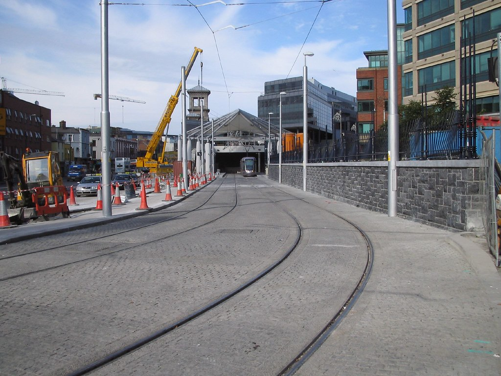 TRAM TRACKS OUTSIDE IFSC