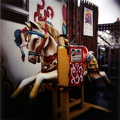 coney_horse (dubsyuhs) Tags: brooklyn coneyisland holga carouselhorse kiddieride stillonly25