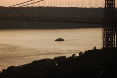 George Washington Bridge (kevin813) Tags: nyc d50 yacht georgewashingtonbridge