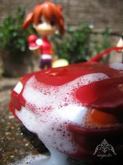 Car Wash: 1 (dollie_mixtures) Tags: street macro cute car set toy japanese doll outdoor pinky wash foam kawaii pinkyst