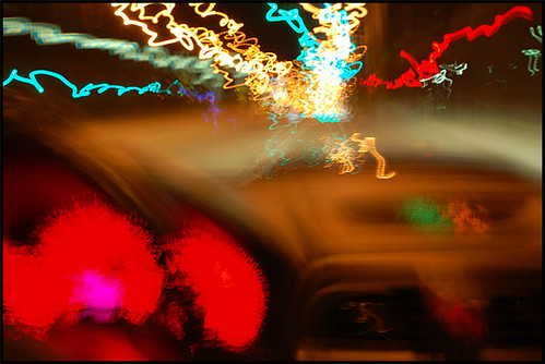 Driving a Subaru STI at Night