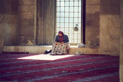 A woman praying, Le Caire, Egypte (balavenise) Tags: people woman reading book mujer women sitting god seat femme muslim islam prayer religion egypt mosque sit seated mujeres livre prayers assis egypte dieu lire believer mosque mesquita peoplereading prire peoplesitting kadin croyance